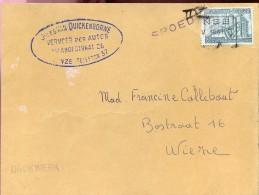 Omslag Enveloppe - Vervoer Van Quickenborne Deinze - Verstuurd Naar Wieze - 1951 - Entiers Postaux