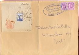 Omslag Enveloppe - Vervoer Van Quickenborne Deinze - Verstuurd Naar Gent - Entiers Postaux