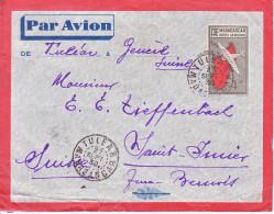 ENTIER -POUR LA SUISSE - ST IMIER - 1938 - PAR AVION - - Madagascar (1960-...)