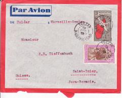 ENTIER -POUR LA SUISSE - ST IMIER - 19!! - PAR AVION - VAL COMPLEMENTAIRE - CACHET AVEC ANNEE CACHEE ! - Madagascar (1960-...)
