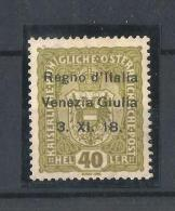 AUSTRIA , ITALIA OCUPACION, VENECIA GIULIA 1919.  SELLO DE AUSTRIA DE 1916-18 CON SOBRECARGA,NUEVO - 1850-1918 Imperio