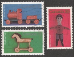 Canada. 1979 Christmas. Toys. Used Complete Set. SG 962-964 - Used Stamps