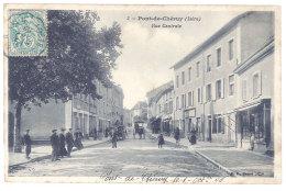 Cpa - Pont De Cheruy - Rue Centrale - Pont-de-Chéruy