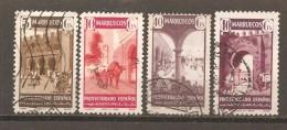 Marruecos Español - Edifil 234, 236, 239-40 - Yvert 319, 321, 324-25 (usado) (o) - Marruecos Español