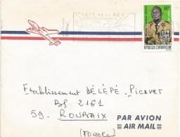 Centrafrique RCA CAR 1967 Bangui President Jean-Bedel Bokassa Cover - Centraal-Afrikaanse Republiek