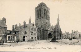 CPA - LOCRONAN - LA PLACE ET L'EGLISE - 4 - I. L. - T. B. E. - - Locronan