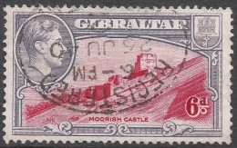 Gibraltar. 1938-51 KGVI. 6d Used. P13½ SG126 - Gibraltar