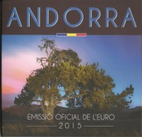 ANDORRA EURO COIN SET 2015 - BU Quality - 8 Coins - Original - Andorra