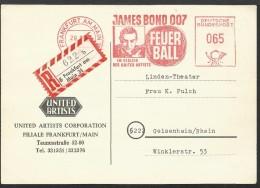Freistempel/EMA/meter/affrancatura Meccanica Film J.B. 007 - Feuer Ball - Agente 007 - Thunderball (Operazione Tuono) - Cinema