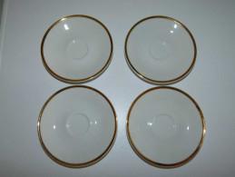 "VINTAGE BEAUTIFUL CZECH EPIAG PORCELAIN PLATES 4 PIECES GOLD PLATED 1960""S SEAL ORIGINAL RARE - Ceramics & Pottery"