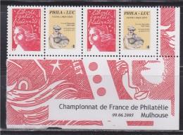 = Timbres Marianne Luquet Du 14 Juillet YT 2 N°3417a Neuf Personnalisé Gommé Papier & Gomme Mate Logo Privé Coin Daté - Personnalisés