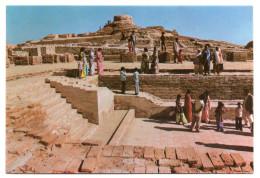 Pakistan-Prehistoric Remains At MOENJODARO Show The Great Stupa (animée) ,cpm N° 20  éd Venus Agency - Pakistan