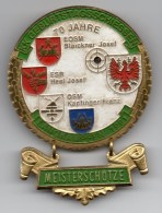 LANGKAMPFEN Schützenplakette - Kk Geburtstagsschiessen 1991 - Meisterschützen Blaickner, Heel, Kapfinger - Vereinswesen