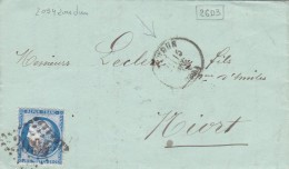 287 -  CERES 60  - LAC  -  15.12.73   -  LOUDUN  -  NIORT - Postmark Collection (Covers)