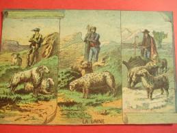 Chromo/Gravure/Métiers Du XIXéme/Image Pédagogique/La Laine /LEFEVRE/Vers 1870-1880      GRAV119 - Trade Cards
