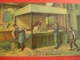 Chromo/Gravure/Métiers Du XIXéme/Image Pédagogique/La Glace à Râfraichir/LEFEVRE/Vers 1870-1880      GRAV124 - Trade Cards
