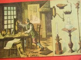 Chromo/Gravure/Métiers Du XIXéme/Image Pédagogique/La Lampe Carcel /LEFEVRE/Vers 1870-1880      GRAV126 - Chromos