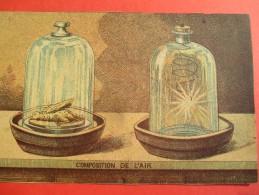 Chromo/Gravure/Phénoménes/XIXéme/Image Pédagogique/Composition De L'Air/LEFEVRE/Vers 1870-1880      GRAV127 - Trade Cards