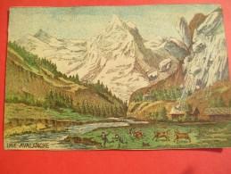 Chromo/Gravure/Phénoménes/XIXéme/Image Pédagogique/Une Avalanche/LEFEVRE/Vers 1870-1880      GRAV128 - Trade Cards