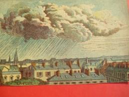 Chromo/Gravure/Phénoménes/XIXéme/Image Pédagogique/La Pluie/LEFEVRE/Vers 1870-1880      GRAV129 - Trade Cards