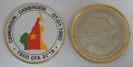 Cameroun 1500 CFA 2015 Bimetal Couleurs Drapeau - Cameroun