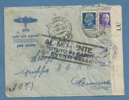 """AFRICA ORIENTLE ITALIANA GIMMA 1941 """"AL MITTENTE NON POTUTO RECAPITARE PER EVENTI BELLICI"""" AEROGRAMMA  CON CENSURA - Militaria"""