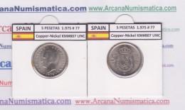 SPAIN/JUAN CARLOS I    5  PESETAS  1.975 #77   Cu-Ni   KM#807   SC/UNC  T-DL-9388 - 5 Pesetas
