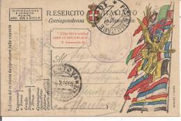 R.ESERCITO ITALIANO,FRANCHIGIA,POSTA MILITARE 10-OSPEDALE MILITARE MANTOVA,POSTE MANTOVA-CENSURA - 1914-18