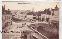 NUITS SAINT ST GEORGES - LA PLACE DU PONT - COTE D OR - CPA - Nuits Saint Georges