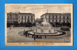BARI - Fontana Di Piazza Roma E Via Vittorio Veneto.   Viaggiata 1940.   Vedi Descrizione. - Bari