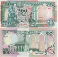 (B0362) SOMALIA, 1989. 500 Shillings. P-36a. UNC - Somalia