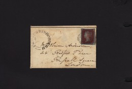 Great Britain1846, 1d Red, Imperforate On Cover To London, TRING, PRINCESS RISBOROUGH C.d.s. - 1840-1901 (Victoria)