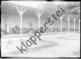 Négatif Photo Sur Plaque De Verre - Hopital Sanitaire Du Bequet 1926 Lits à L´extérieur - Diapositiva Su Vetro