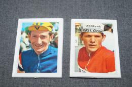 Coureurs Cyclistes, Original Avec Encadrement POK, Roger Pingeon -Eric De Vlaminck (Pril),7,5 Cm. Sur 5,5 Cm. - Radsport