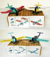Kinder : Avion De Sport EAGLE & TIGER De 1997 Avec Sa Variante De 2004 Et 1 BPZ - Kinder & Diddl