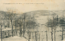 Cpa -   Langogne  -  Le Jardin Public En Temps De Neige       K895 - France