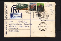 Transkei 1982 Registered Cover HOLYCROSS > Umtata, FLAGSTAFF, KOKSTAD Transit - Transkei