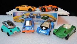 Kinder 2002 : Série 6 Auto Future Design : K03n71 à K03n76 Avec 3 BPZ - Lots