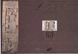 60100 - 1 - Carte Souvenir - Cs - Hk 4194 FDS LDS Belgique Le Calendrier Maya Last Day Sheet 21-12-2012 Bruxelles 1000 B - Herdenkingskaarten