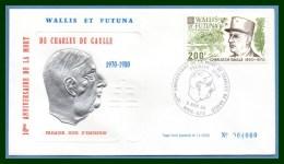 Wallis & Futuna FDC N° PA 106 De Gaulle 1980 - FDC