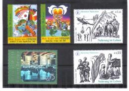GUT1023 UNO WIEN 2005 MICHL  434 + 451/54 ** Postfrisch SIEHE ABBILD - Wien - Internationales Zentrum