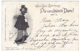 Affaire Zola-Esterhazy, The Veiled Lady Die Verschleierte Dame No.1, C1890s Vintage Postcard - Events