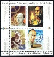 2000 Millennium Series  Inventors Bell, Bombardier, Klein, Gesner Sheet Of 4 Different Sc 1832  MNH - 1952-.... Reign Of Elizabeth II