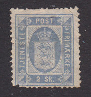 Denmark, Scott #O1a, Mint No Gum, Small State Seal, Issued 1871 - Service