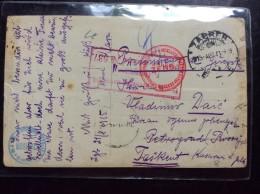 TO  TASHKENT   OVER PETROGRAD  1915    PRISONERS  CAMP   PRISONNIERS DE GUERRE