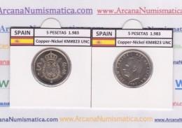 SPAIN /JUAN CARLOS I    5  PESETAS  1.983   Cu-Ni   KM#823   SC/UNC   T-DL-9397 - [ 5] 1949-… : Royaume