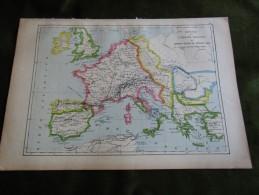 Carte-Map - Império De Carlos Magno Empire - Carte Geographique