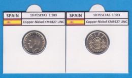 ESPAGNE /JUAN CARLOS I    10  PESETAS  Cu Ni  1.983  KM#827   SC/UNC  T-DL-9411 - [ 5] 1949-… : Royaume
