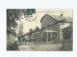 CPA - Saint Aubin D'Escrosville - Un Carrefour  (attelage Ane ) - Saint-Aubin-d'Ecrosville