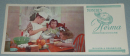 Rare Ancien BUVARD Publicitaire Montres HERMA, Montre, Photo Enfants Cuisinier, Déjeuner - H